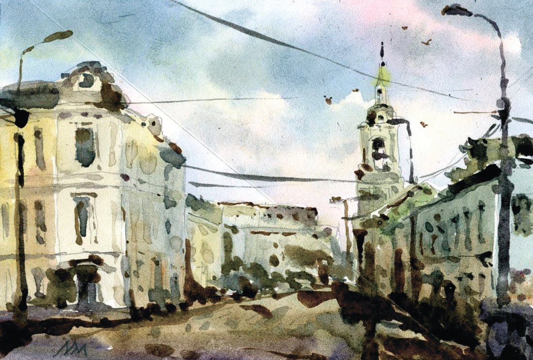 Город 23 (Акварель/Watercolor)