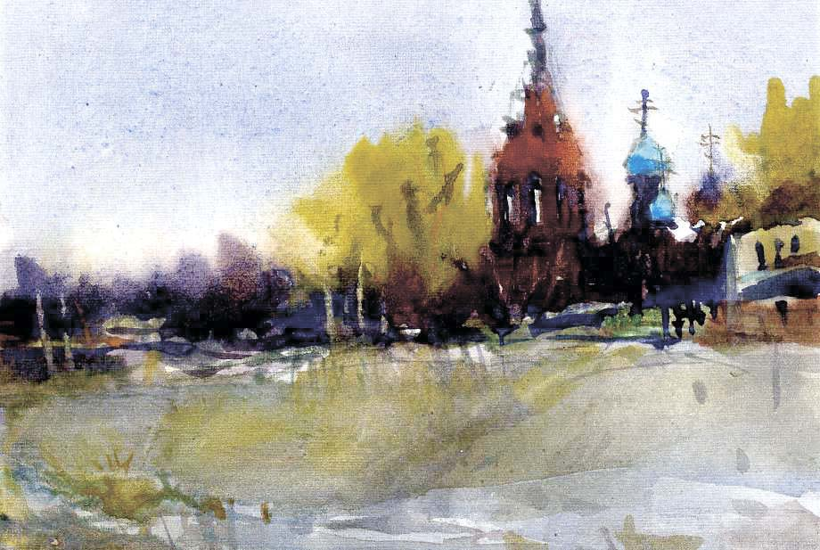 Храмы 8 (Акварель/Watercolor)
