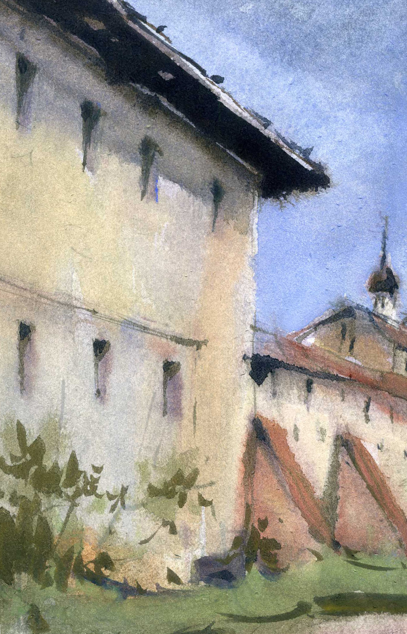 Храмы 32 (Акварель/Watercolor)
