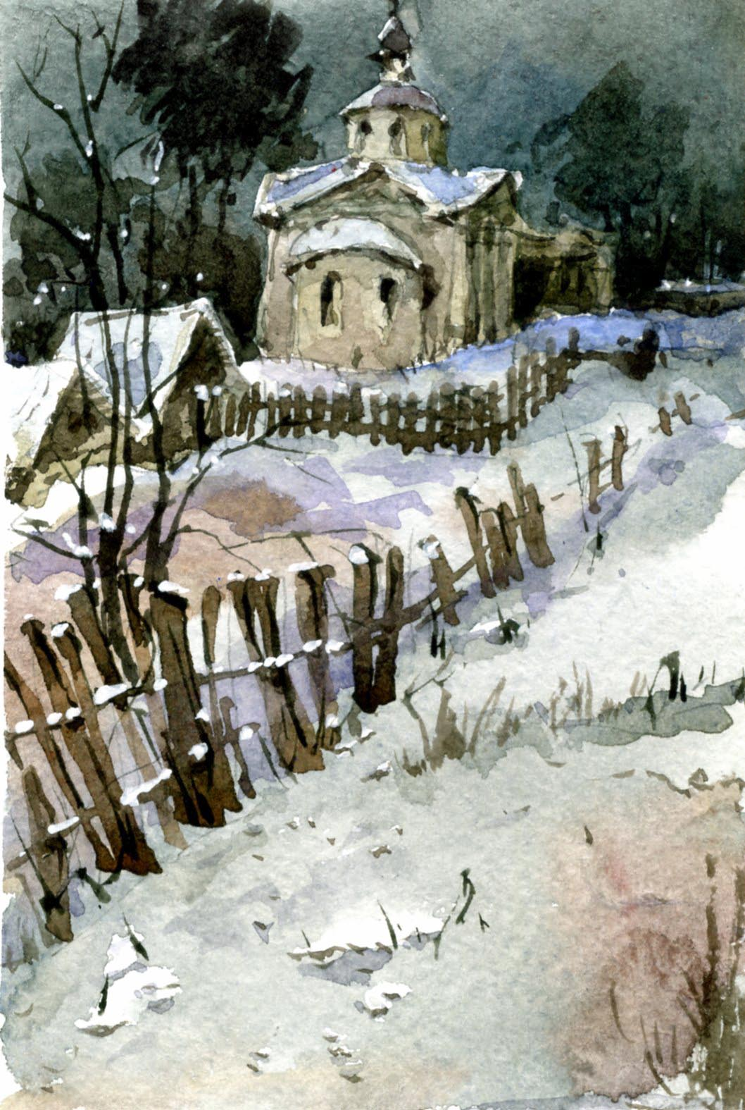 Храмы 16 (Акварель/Watercolor)