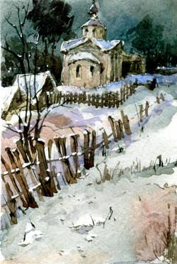 Храмы 16 (Акварель/Watercolor)