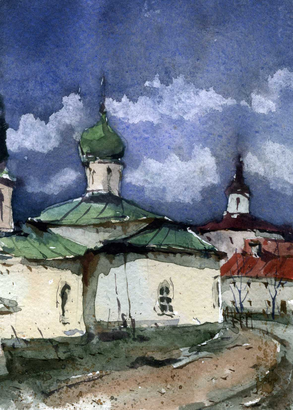 Храмы 27 (Акварель/Watercolor)