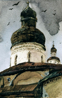 Храмы 44 (Акварель/Watercolor)