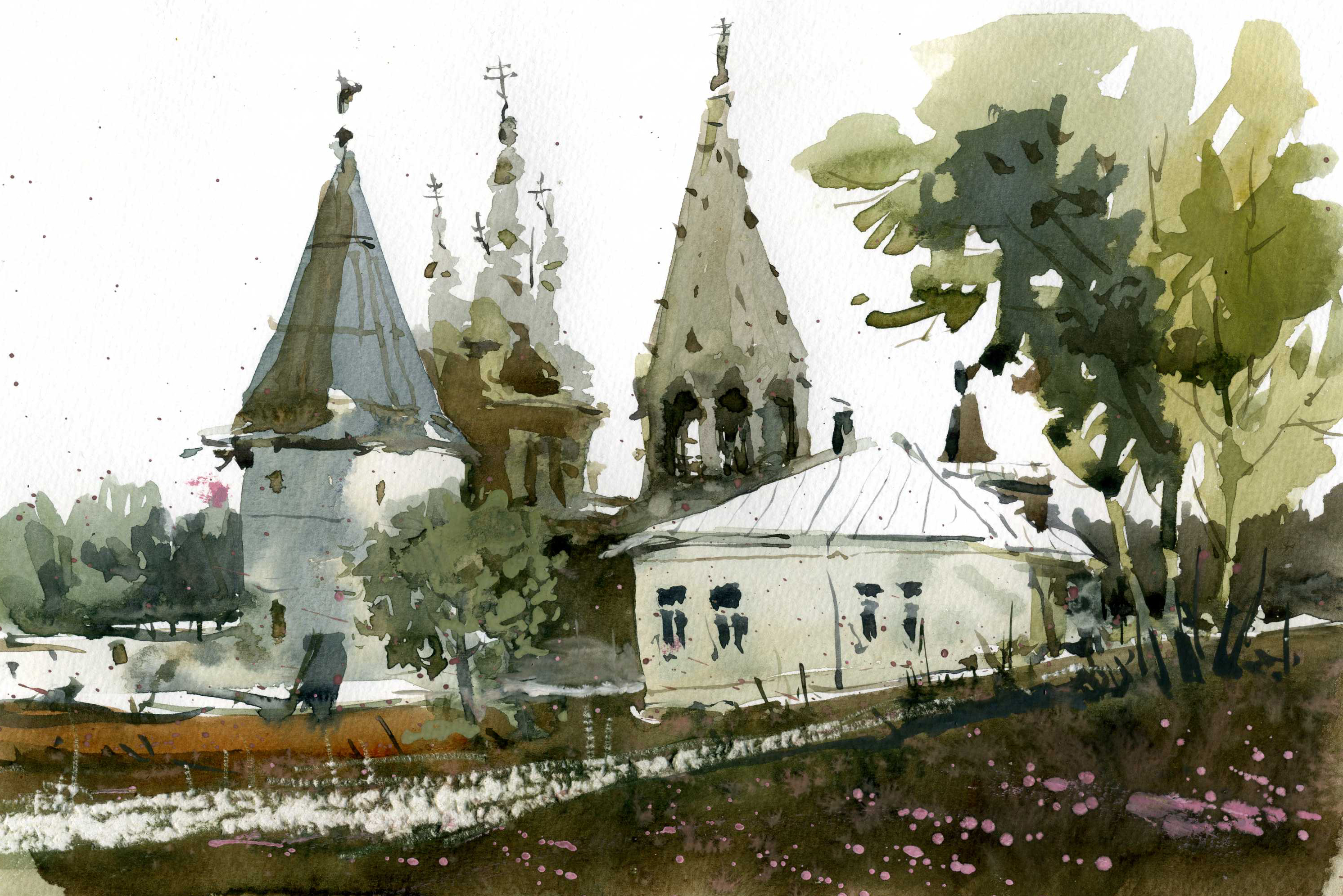 Храмы 20 (Акварель/Watercolor)