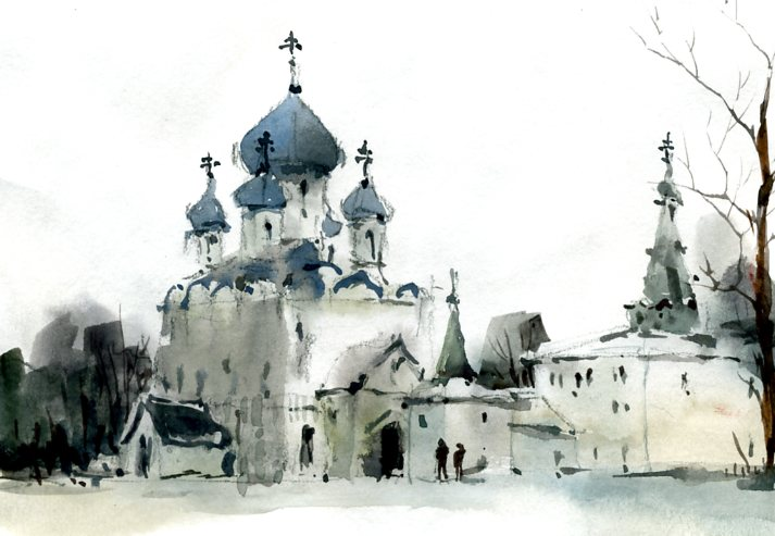 Храмы 66 (Акварель/Watercolor)