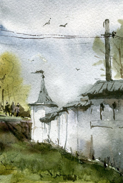 Храмы 57 (Акварель/Watercolor)
