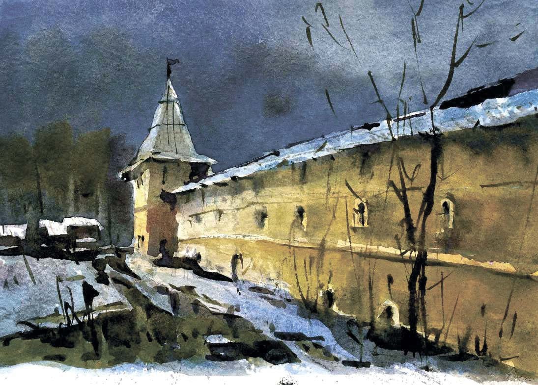 Храмы 9 (Акварель/Watercolor)
