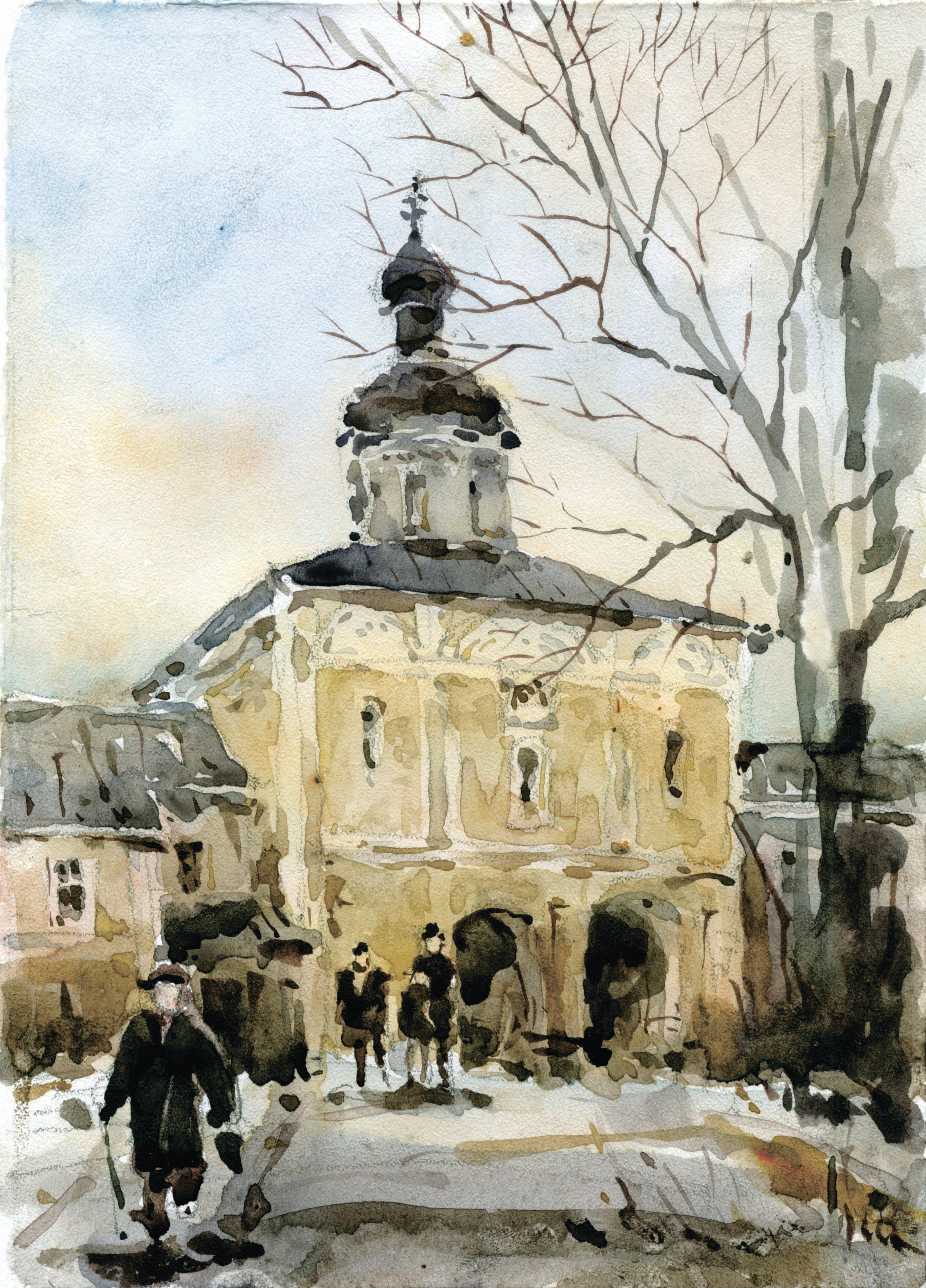 Храмы 63 (Акварель/Watercolor)