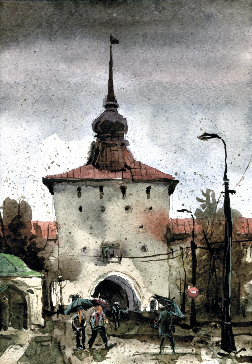 Храмы 43 (Акварель/Watercolor)