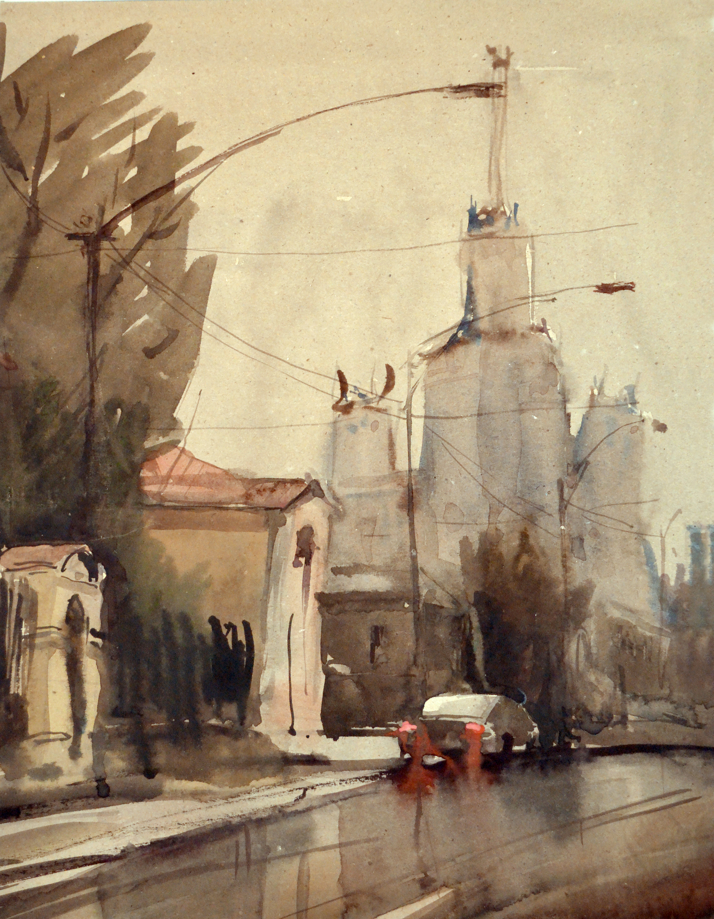 Город 13 (Акварель/Watercolor)