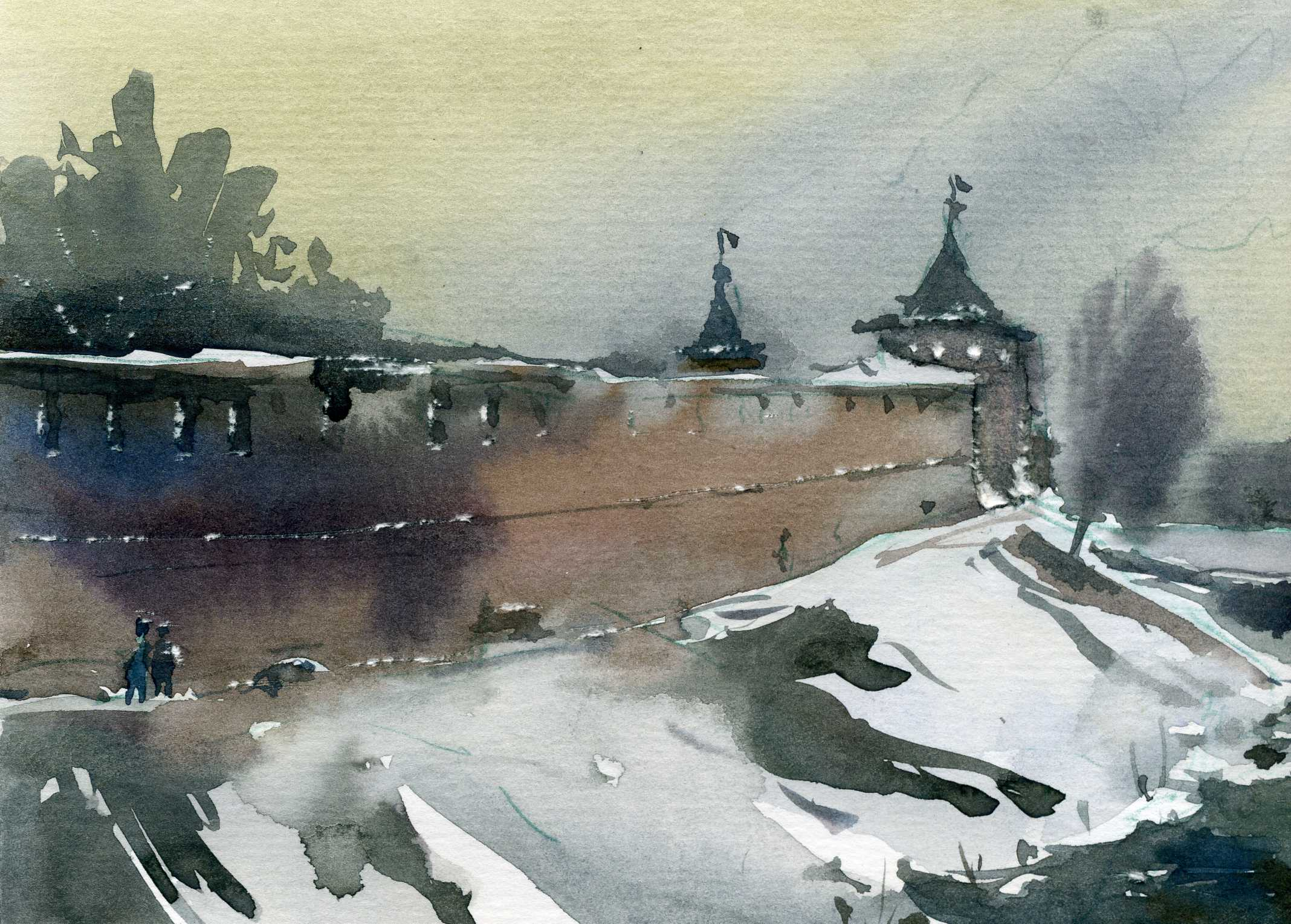Храмы 18 (Акварель/Watercolor)