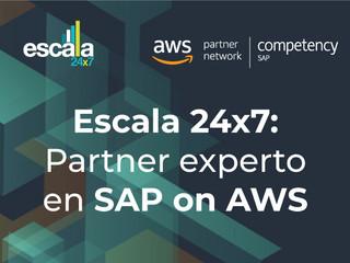 Escala 24x7 obtiene la competencia de SAP, demostrando su trayectoria y experiencia en SAP on AWS