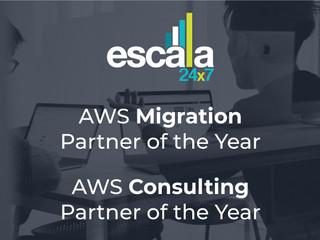 Escala 24x7 ha sido designado AWS Consulting Partner of the Year y AWS Migration Partner of the Year