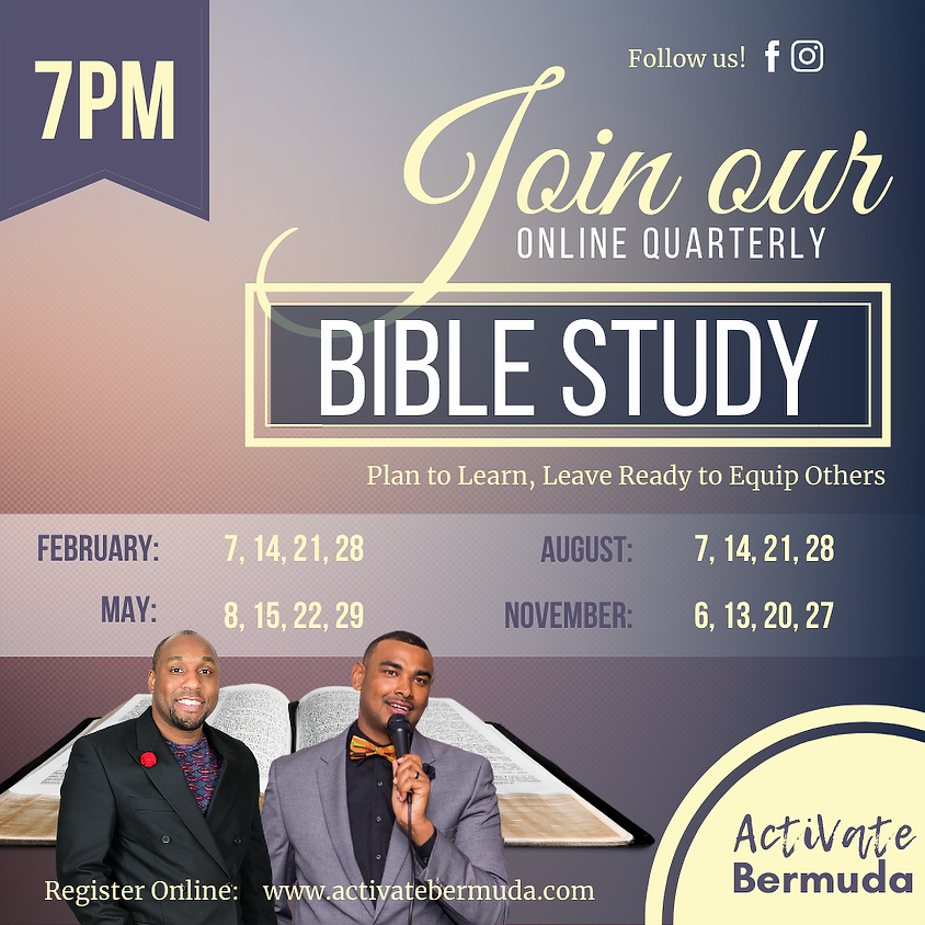 November - Quarterly Bible Study
