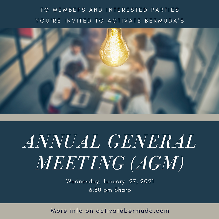 Activate Bermuda's Annual Annual General Meeting
