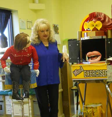 #VentriloquistKathyBurns with Leroy talks about the importance of our Words.