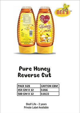 Pure Honey Reverse Cut