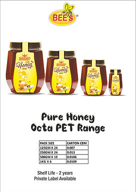 Pure Honey Octa PET Range