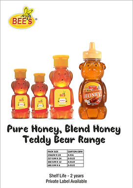 Pure Honey Blend Honey Teddy Bear Rang