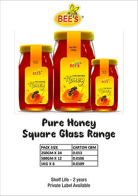 Pure Honey Square Glass Range