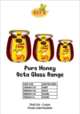 Pure Honey Octa Glass Range
