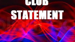 Club Statement on All Island Proposal