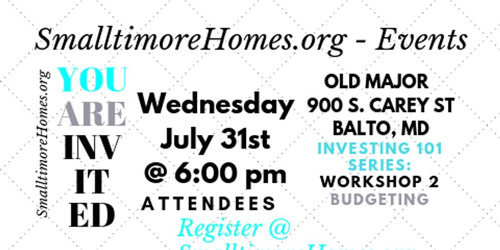 Investing 101 Series - Workshop 2 - Budgeting