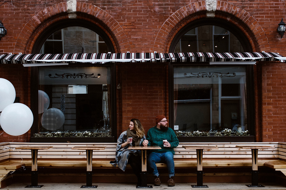 downtown guelph engagement photos