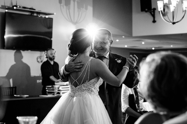 bride dancing with father of the bride