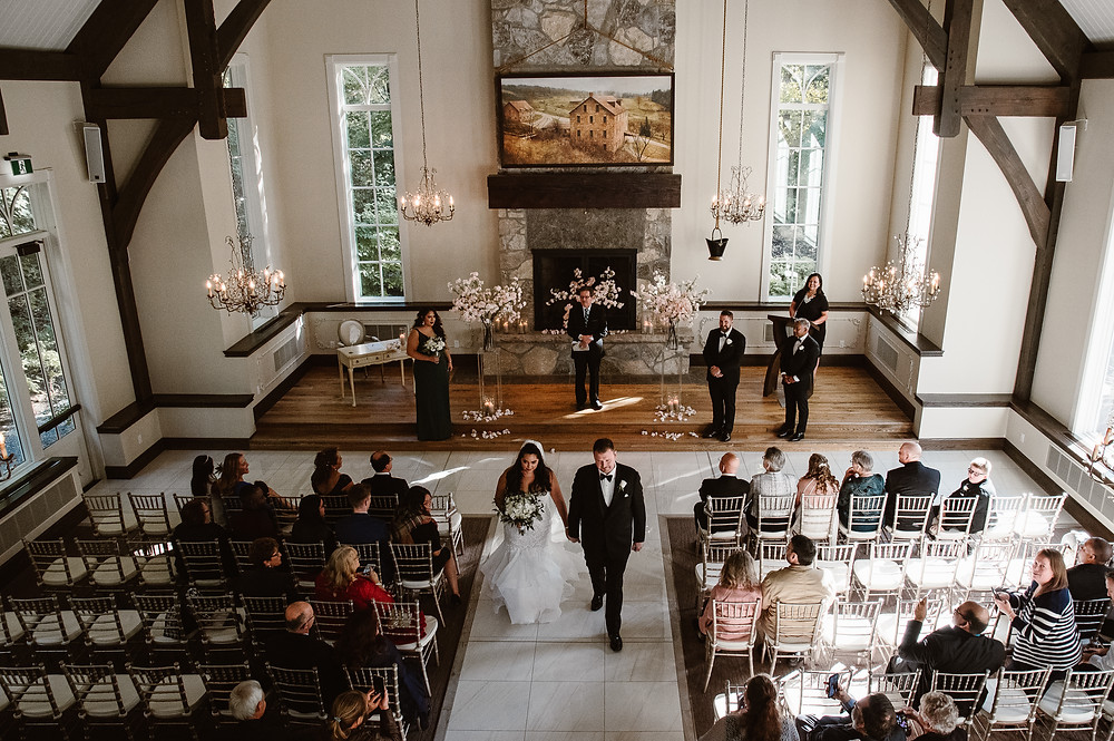 wedding ceremony at the ancaster mill in ancaster ontario