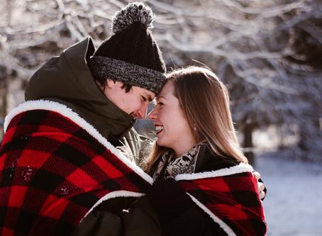 Cozy Winter Couple Photos