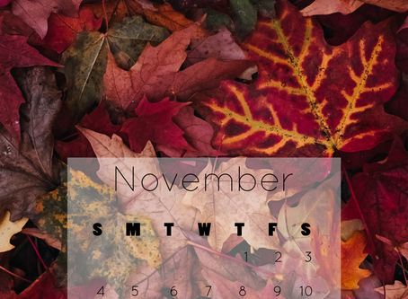 November 2018 Calendar Background | Free iPhone & Desktop Wallpaper Download
