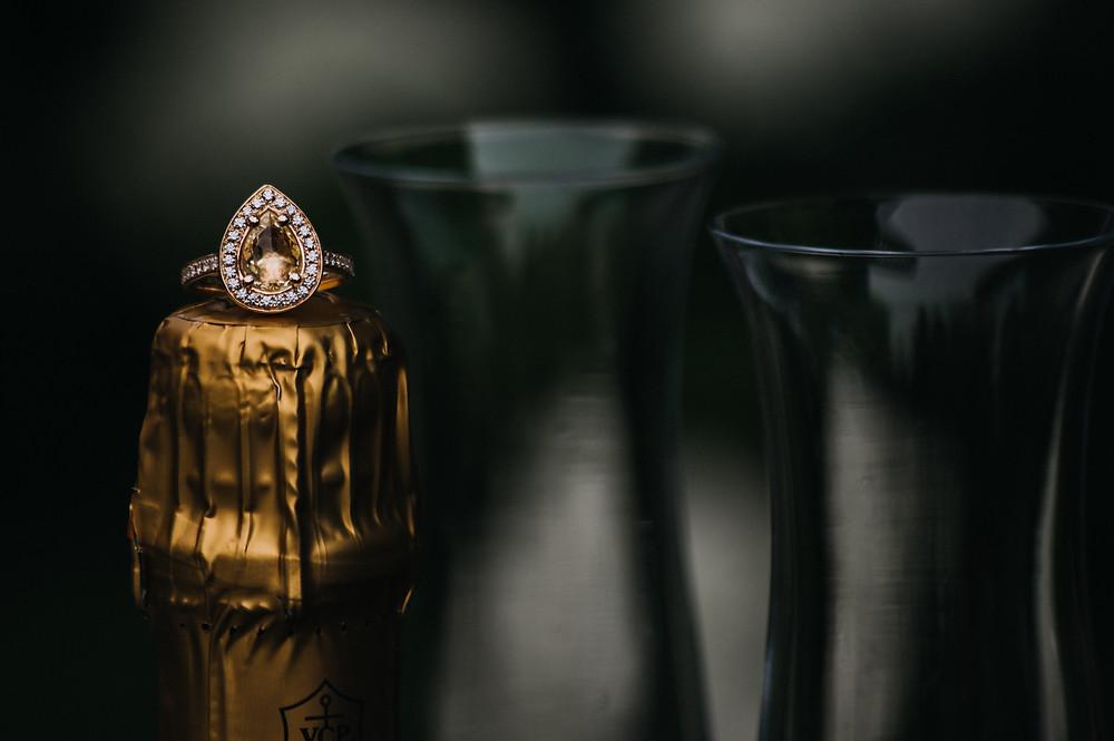 custom engagement ring from Macadi Jewellery in Elora, Ontario