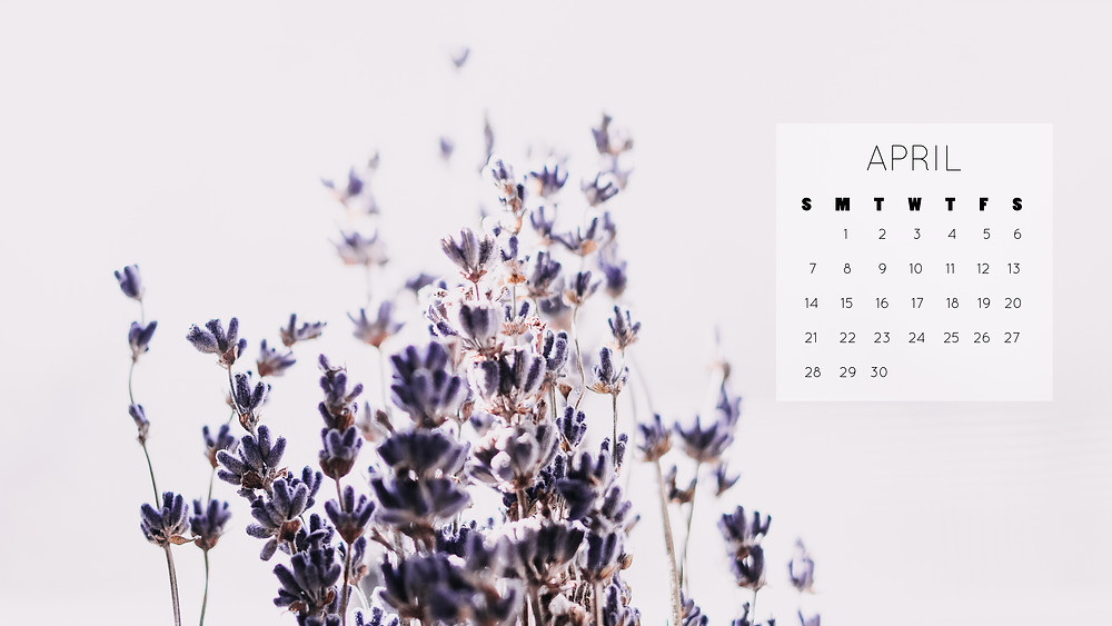 free april 2019 desktop wallpaper lavender spring