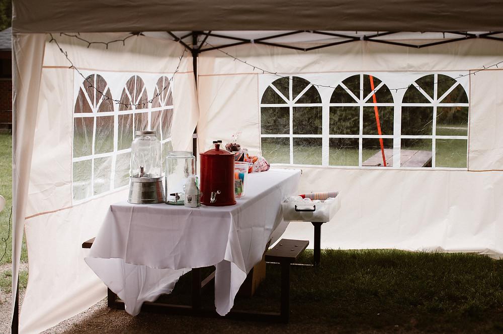 wedding reception tent ideas