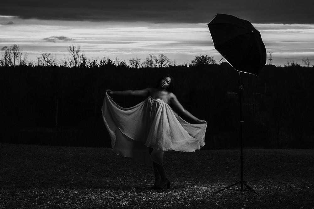 black and white umbrella photos