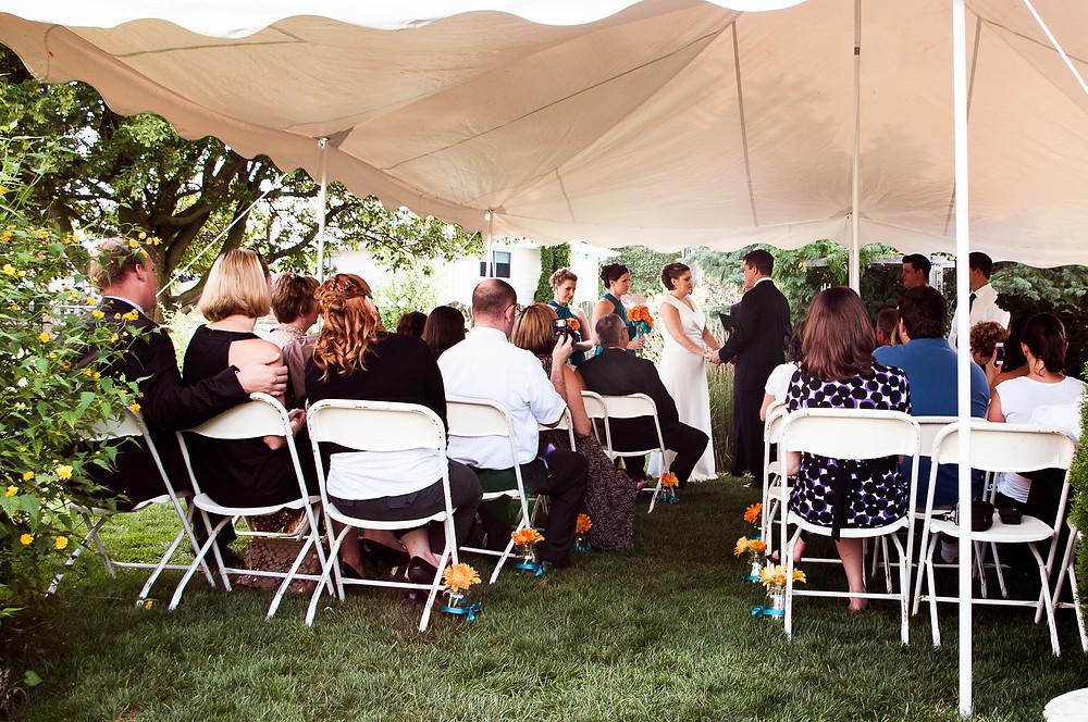 backyard tent wedding ontario