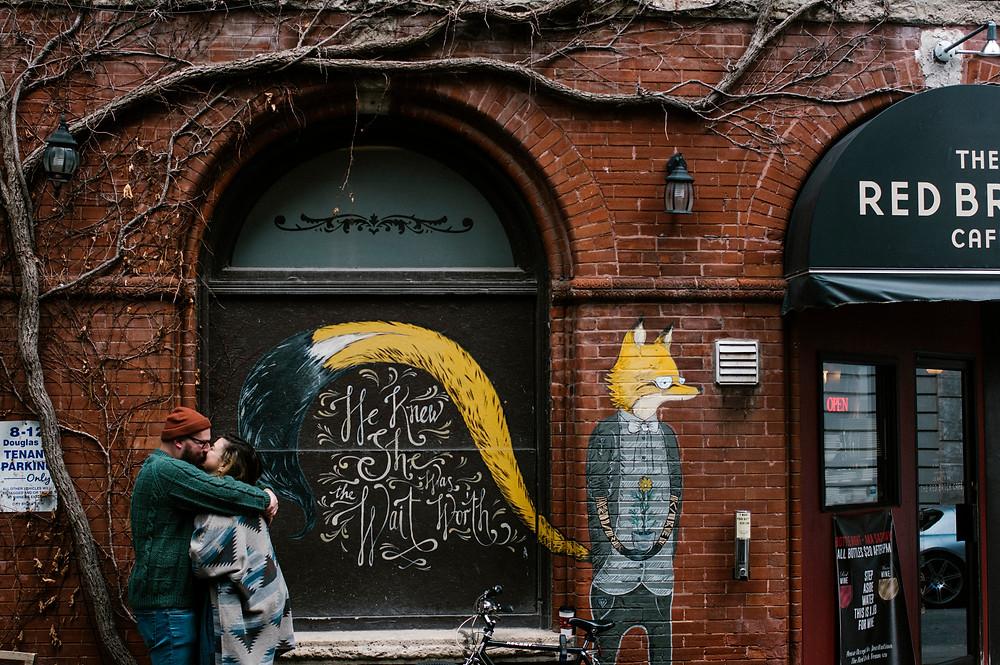 Downtown guelph fox mural photos