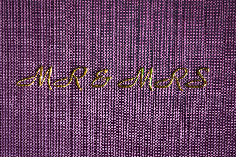 gold embossing wedding album