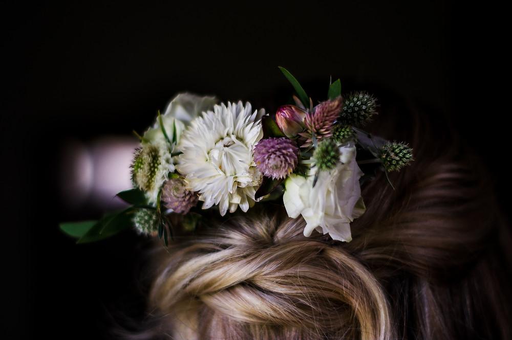floral hair piece for hair