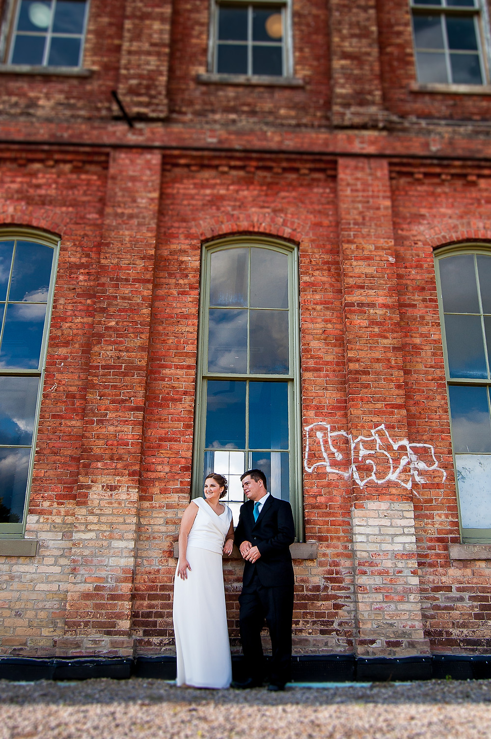 St. Thomas train station wedding photos
