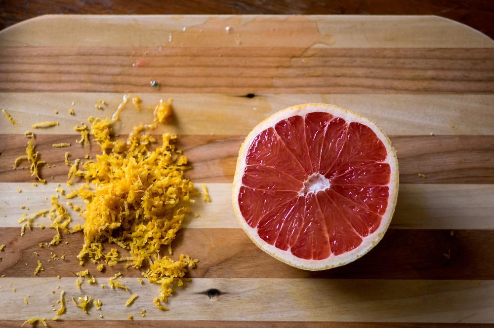 grapefruit and zest