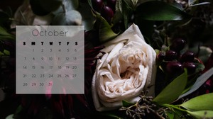 """October 2018 calendar free download for 27"""" iMac desktop"""