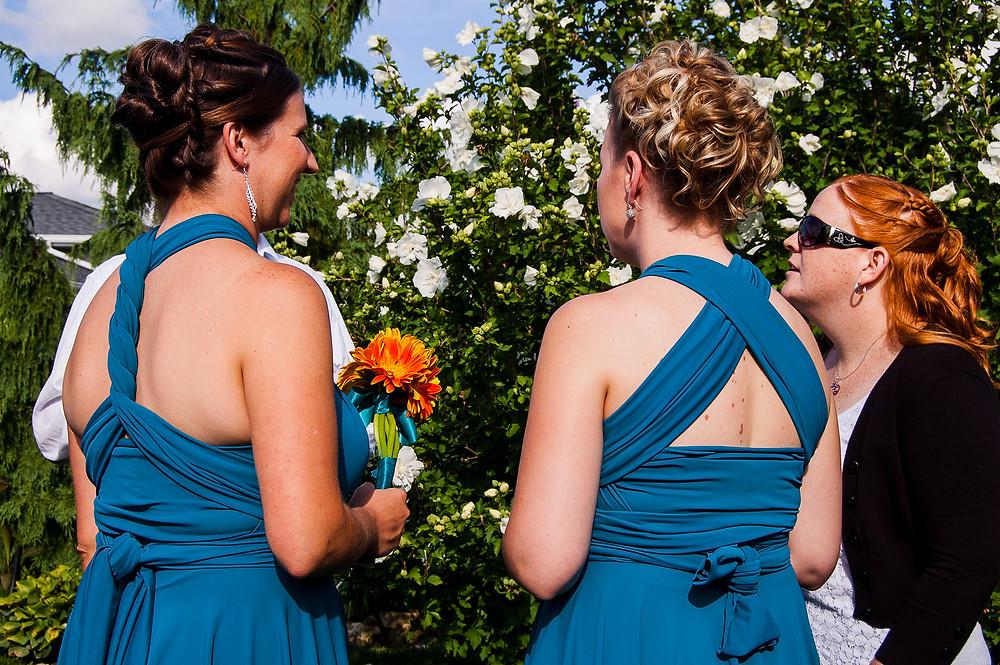 wrap style bridesmaid dresses