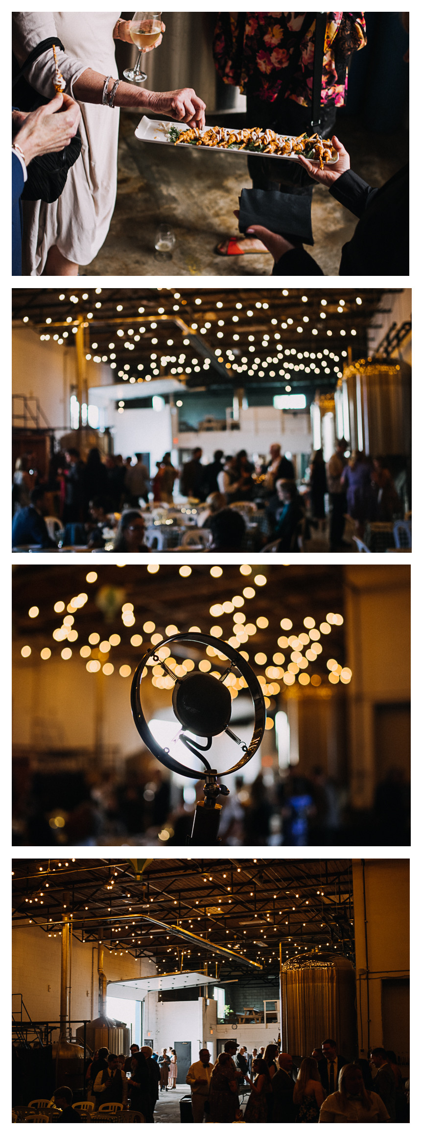 moody wedding reception lighting brewery hamilton