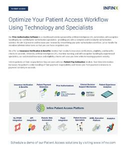Infinx Patient Access Datasheet - Nov 20