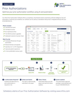 Infinx Prior Authorization Product Sheet