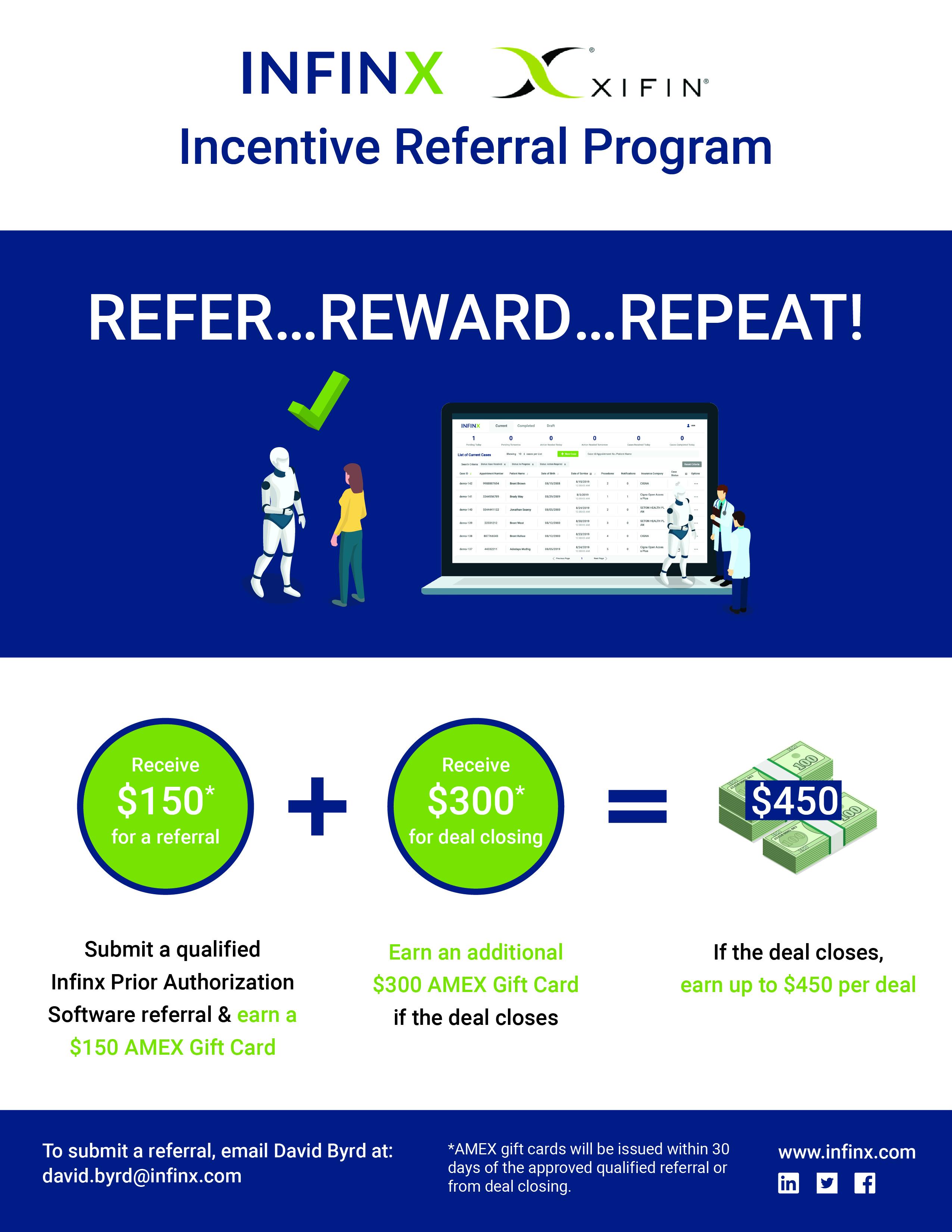 Infinx Partnership Program Flyer