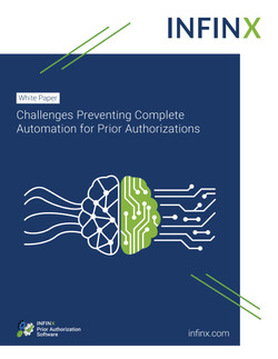 Infinx White Paper Challenges Preventing Complete Automation for Prior Authorizations
