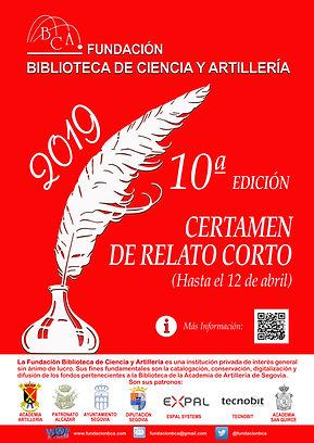 Cartel Certamen literario 2019..jpg